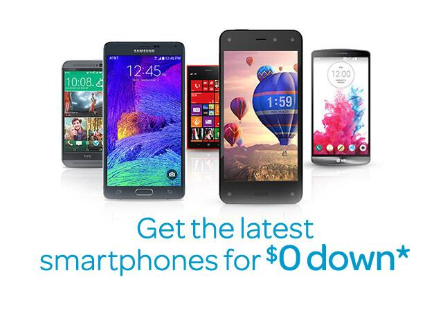 AT&T Next - Get the latest smartphones for $0 down with AT&T Next.*